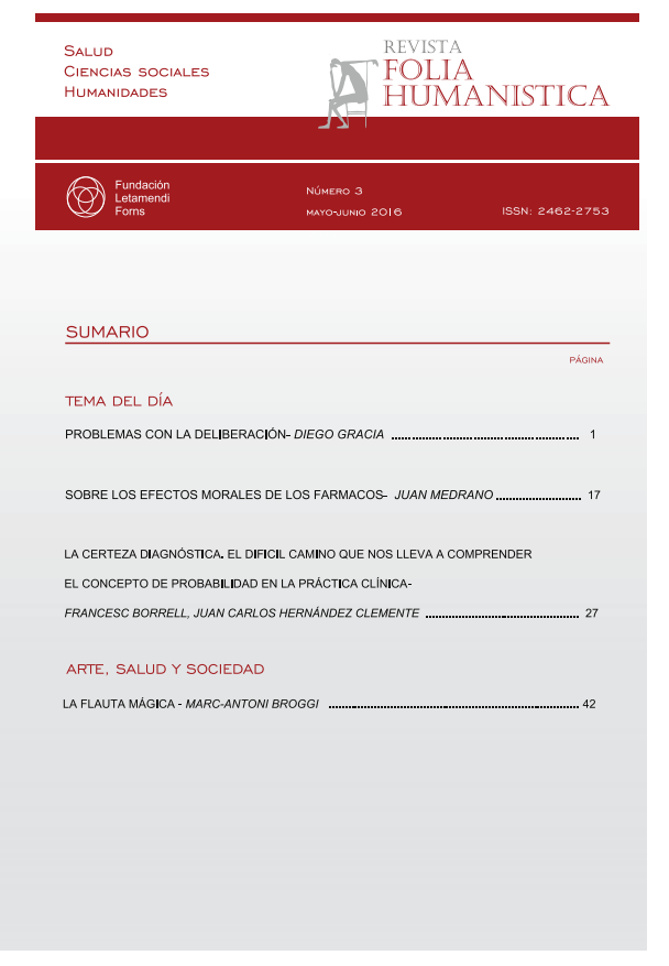 Ver Núm. 3 (2016): Folia Humanística Número 3 - mayo-junio 2016