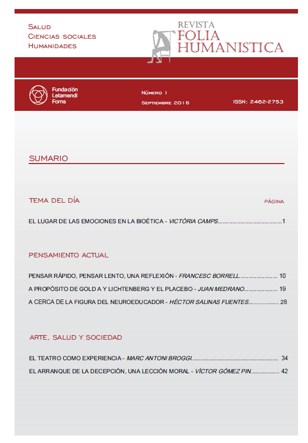 Ver Núm. 1 (2015): Folia Humanística Número 1 - Septiembre 2015