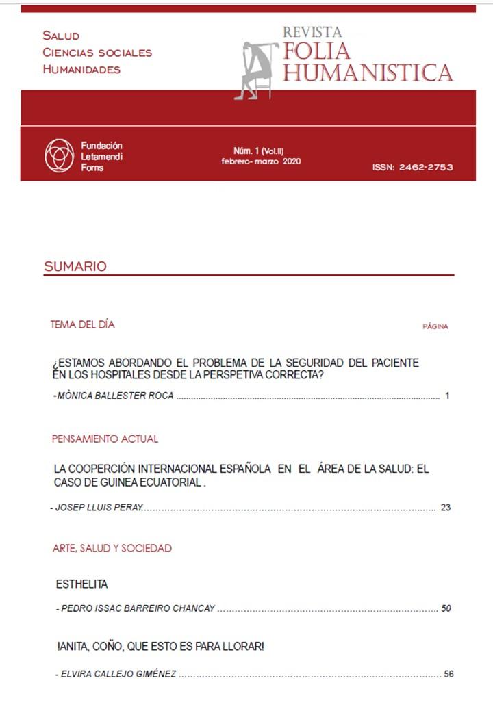 Ver Vol. 2 Núm. 1 (2020): Folia Humanística