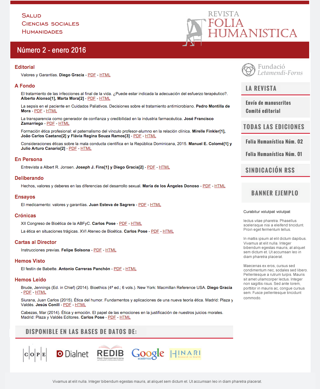 Ver Vol. 2 Núm. 5 (2021): FOLIA HUMANÍSTICA