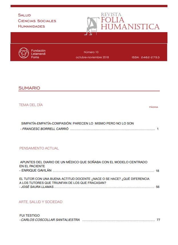 Ver Núm. 10 (2018): Folia Humanística Número 10. - octubre-noviembre 2018