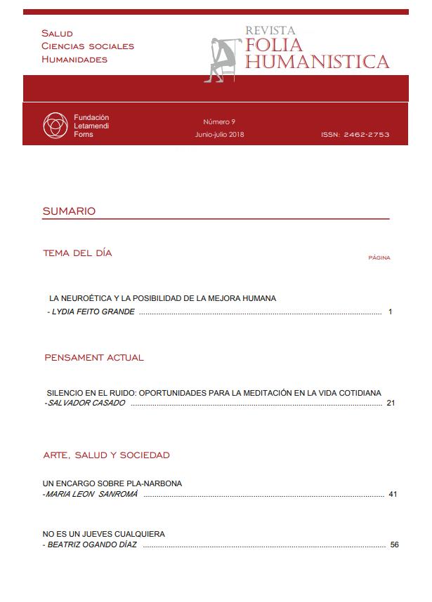 Ver Núm. 9 (2018): Folia Humanística Número 9. - Junio-julio 2018
