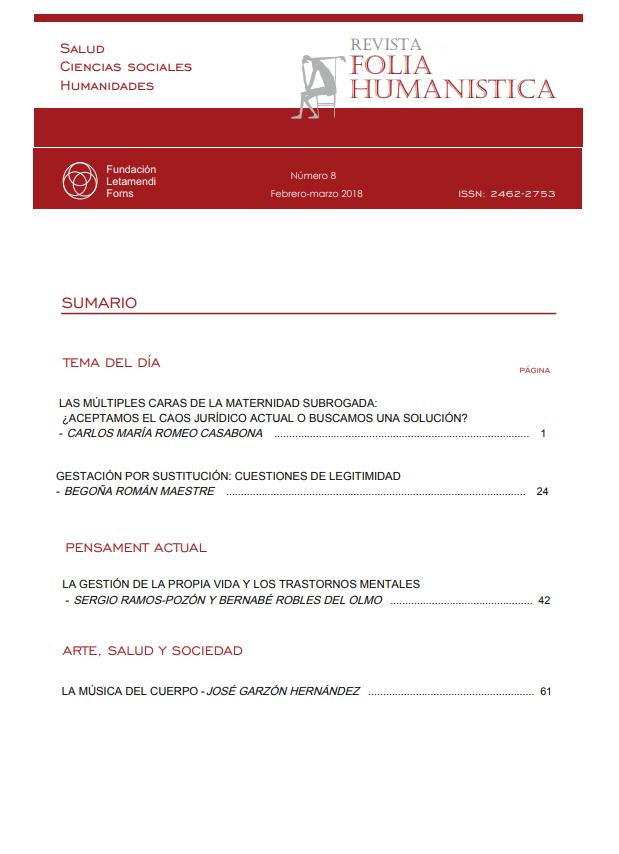 Ver Núm. 8 (2018): Folia Humanistica número 8. - febrero- Marzo 2018