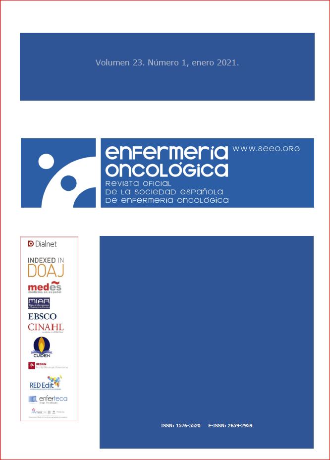 Ver Vol. 23 Núm. 1 (2021): Revista Enfermería Oncológica